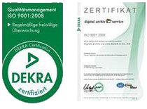 dekra zertifizierung digital archiv service